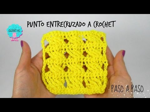 Tutorial punto entrecruzado a crochet muy fácil