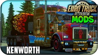 Kenworth T800 Hot Road skin  + Engine + Wheels | Euro truck simulator 2 | 1.15 -- 1.16
