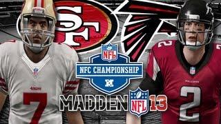 getlinkyoutube.com-Madden 13 Playoffs Edition : San Francisco 49ers vs Atlanta Falcons #FACECAM!