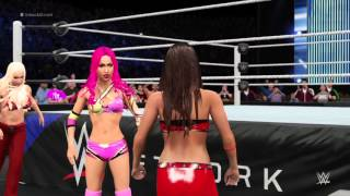 WWE 2K16 Sasha Banks vs Jillian Hall