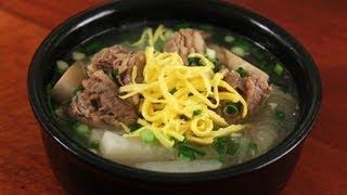getlinkyoutube.com-Beef short ribs soup (Galbitang: 갈비탕)