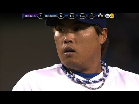 COL@LAD: Ryu fans 12 Rockies over six solid frames