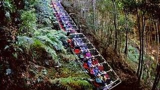 getlinkyoutube.com-World's Steepest Railway - Scenic World, Katoomba