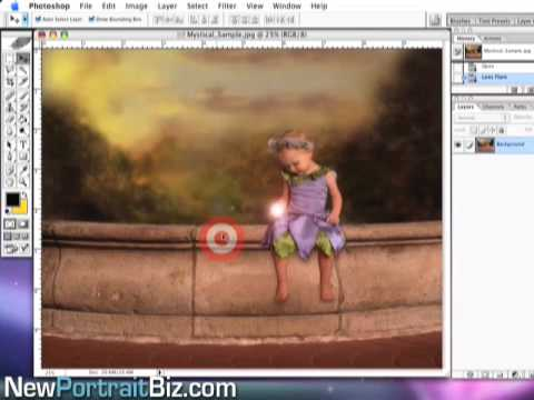 Learn How To Use Digital Photography Backgrounds In Photoshop