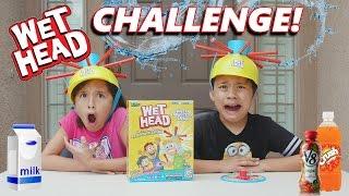 getlinkyoutube.com-WET HEAD CHALLENGE!!! Extreme Liquid Hat Game in 4K!