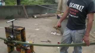getlinkyoutube.com-Bending square tube - roladora  de tubos cuadrados -Biegekantrohr