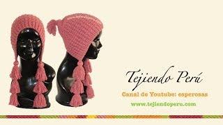 getlinkyoutube.com-Gorro tipo capucha con borlas tejido en dos agujas