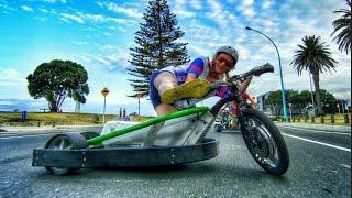 getlinkyoutube.com-Motorized Drift Trike and Blokart in 4K!