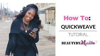 HOW TO : QUICK WEAVE HALF UP PONYTAIL | BEAUTYBYMALIKA