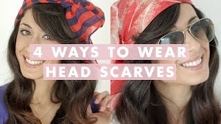 Four Ways to Wear Head Scarves