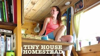 "getlinkyoutube.com-Tiny House Homestead (""The Upcycled Micro Home"")"
