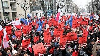 Protestas en Polonia contra el apagón informativo en el Parlamento