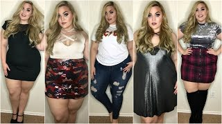 getlinkyoutube.com-HUGE Clothing Haul + Try-On ♡ BooHoo, Torrid, Pacsun & More | January 2017