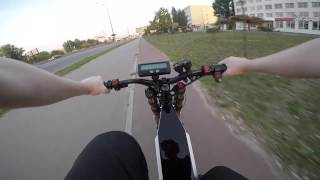 getlinkyoutube.com-Электровелосипед 4000w. Велодорожка. НЕ ПОВТОРЯТЬ!