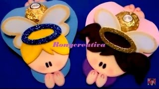 getlinkyoutube.com-ANGELITOS DE FOAMY O GOMA EVA - BOMBONEROS O SOUVENIRS / Ronycreativa