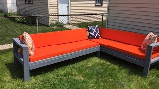 getlinkyoutube.com-DIY Outdoor Sectional|Budget friendly| $300|