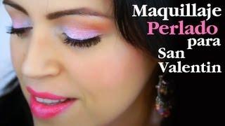 getlinkyoutube.com-Maquillaje Sencillo Perlado Rosado y Marrón para el Diario