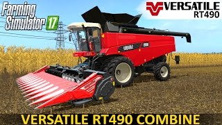 getlinkyoutube.com-Farming Simulator 17 VERSATILE RT490 COMBINE