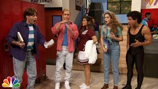 """getlinkyoutube.com-Jimmy Fallon Went to Bayside High with """"Saved By The Bell"""" Cast"""