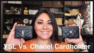 getlinkyoutube.com-Saint Laurent Vs. Chanel Cardholder Comparison