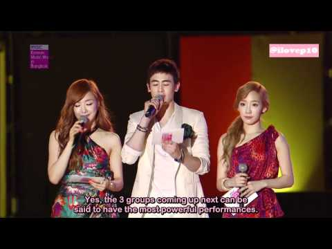 [ENG SUB] 120428 MBC Korean Music Wave in Bangkok MC Cut (Taeyeon/Tiffany/Nichkhun)