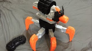 getlinkyoutube.com-[REVIEW] Nerf Terradrone (Combat Creatures) Unboxing, Review, & Firing Test