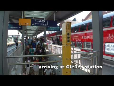 From Frankfurt to FKK-World in Pohlheim-Garbenteich by train - sunny summer 2013