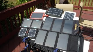 getlinkyoutube.com-Portable USB Solar Panel Charger Review / Tests  - Part 1