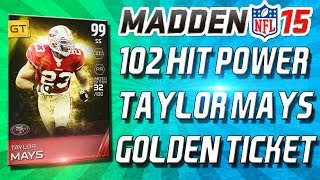 getlinkyoutube.com-Madden 15 Ultimate Team - GOLDEN TICKET TAYLOR MAYS! EMMITT SMITH DISRESPECTED! - MUT 15