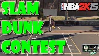 getlinkyoutube.com-SLAM DUNK CONTEST AT THE PARK - NBA 2K15