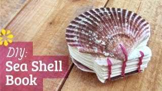 getlinkyoutube.com-DIY Sea Shell Book   Coptic Stitch Bookbinding Tutorial   Sea Lemon