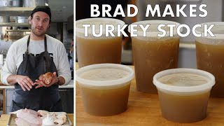 Brad Makes Thanksgiving Turkey Stock | From the Test Kitchen | Bon Appetit width=