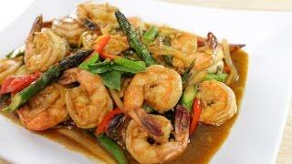 getlinkyoutube.com-Shrimp & Chili Paste Stir-Fry กุ้งผัดนำ้พริกเผา - Hot Thai Kitchen