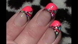 getlinkyoutube.com-Pink Neon Nageldesign / Fingernägel lackieren / Pailletten Glitter Nail Design Tutorial