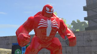getlinkyoutube.com-LEGO Marvel Superheroes - RED VENOM FREE ROAM GAMEPLAY