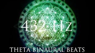 DEEP Theta Binaural Beats ➤ LET GO of Fear, Overthinking & Worries ➤ 432Hz Deep Relaxation