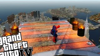 getlinkyoutube.com-GTA IV SKATE MOD - SPIDERMAN SKATES MEGA RAMP