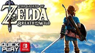 The Legend of Zelda Breath of the Wild Demo Gameplay! Nintendo Switch Quick Play