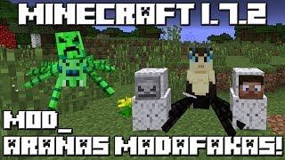 getlinkyoutube.com-Minecraft 1.7.2 MOD LAS ARAÑAS MADAFAKAS!