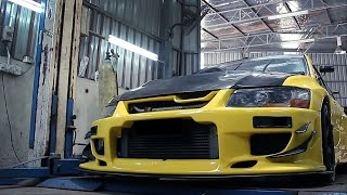 Mitsubishi Lancer Evo 7 converted to Evo 9