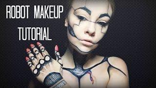 getlinkyoutube.com-Robot Makeup Tutorial