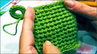 getlinkyoutube.com-Прихватка крючком из остатков пряжи (potholder crochet yarn from residues)