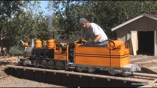 getlinkyoutube.com-Flintridge & Portola Valley - firing up the bumblebee #268 - live steam