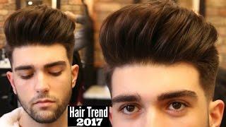 getlinkyoutube.com-BIG VOLUME QUIFF - Mens Haircut & Hairstyle Trend 2017 Tutorial