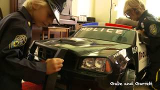 Kid Trax Police Dodge Charger (Sidewalk Cops) Unboxing and Review
