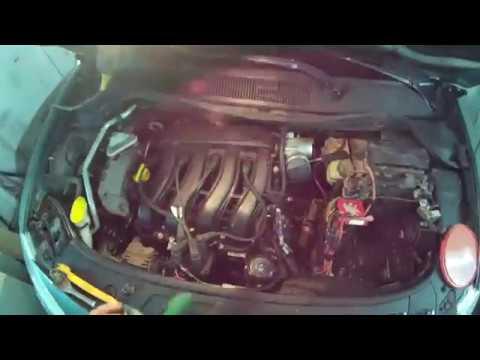 Где находится у Renault Мегана ремень кондиционера