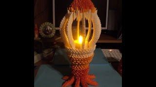 getlinkyoutube.com-How to make 3d origami Lamp-candlestick (Photo master class)