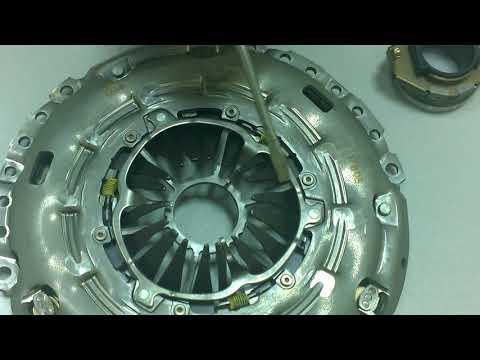 Корзина сцепления и диск сцепления после эксплуатации (Mazda L3 Turbo: L3-VDT)