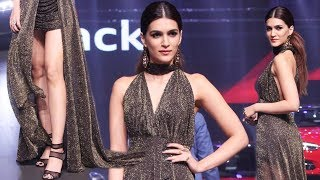 Kriti Sanon Hot Cleavage Show At Red Carpet Of Luxury & Fashion As Hello! & Audi