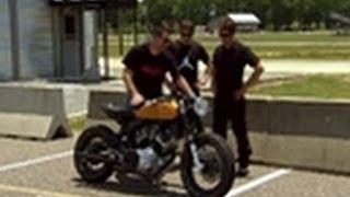 getlinkyoutube.com-Test Driving an '82 Yamaha | Cafe Racer